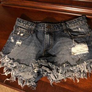 STS Blue Cut Off Denim Shorts